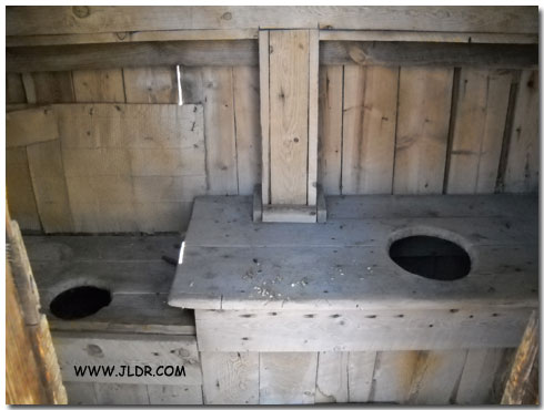 Inside the 1900's Outhouse