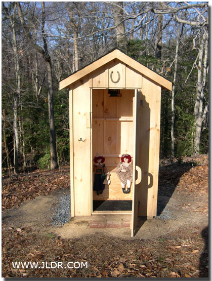 Amish Built Outhouse in St. Marys County Maryland