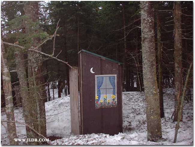 A Ski Trail Outhouse in the Adirondack Mountains