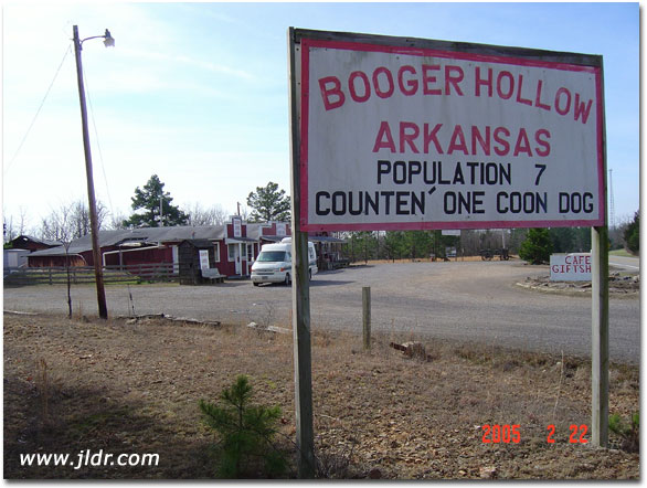 Booger Hollow, Arkansas Population 7