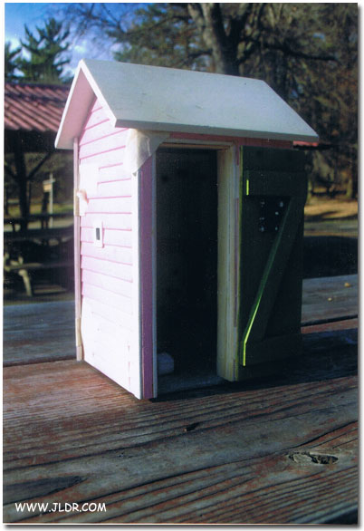 Outhouse Built by Jeff Carter in 2010