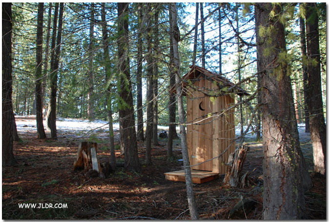 Cedar Outhouse built near Leavenworth, Washington