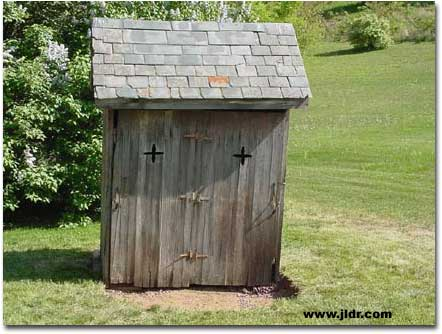 The Outhouse before it was restored