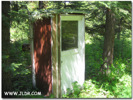 The Outhouse made of doors