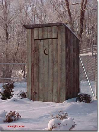Bedford County Pennsylvania Wastewater Treatment Facility Outhouse