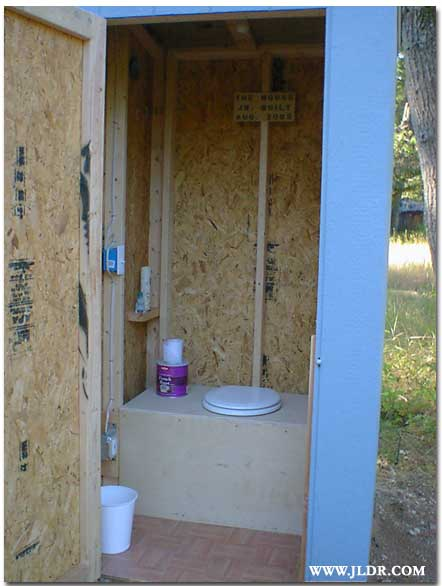 Inside shot of the new Outhouse