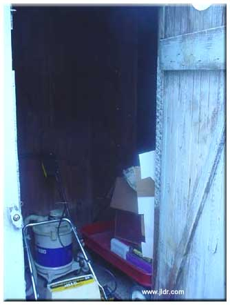 The Outhouse inside, left side