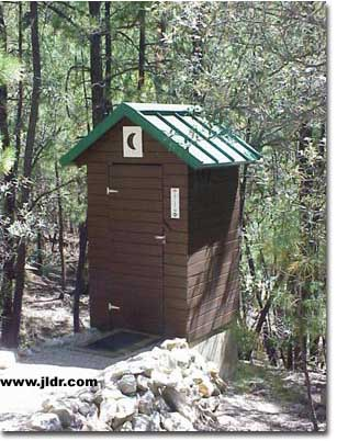 New Roof on the Arizona Mountain Outhouse