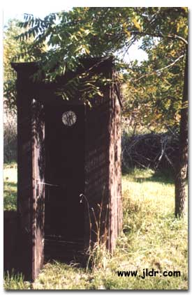 Notice the Unusual Vent in this Outhouse
