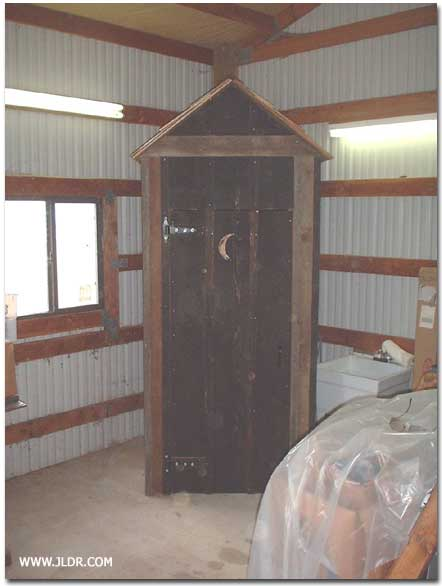 Another view of the indoor outhouse