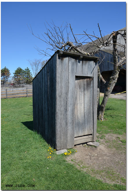 Harvey Firestone Outhouse at his home in Greenfield Village Dearborn, Michigan