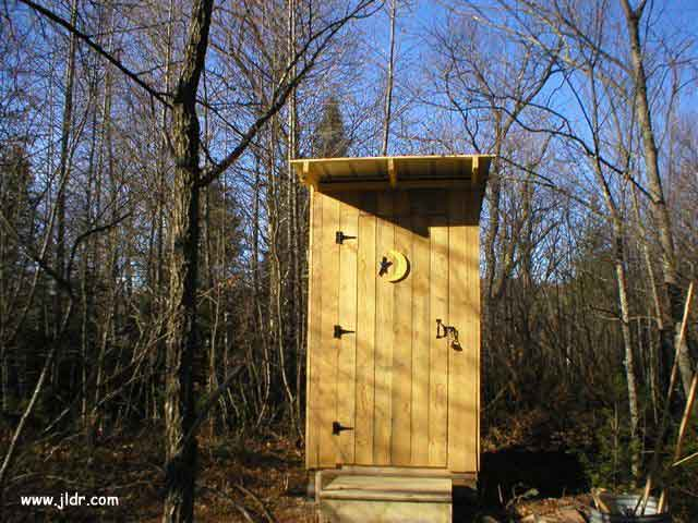 Front View of the Outhouse in NH