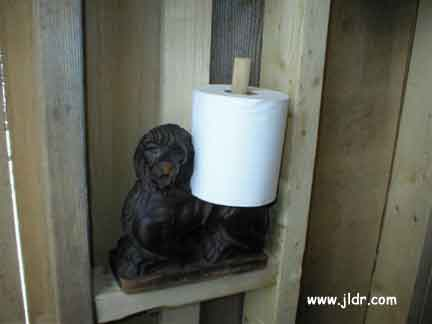 The toilet paper holder