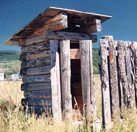 Jackson Hole, Wyoming Outhouse at the Pass