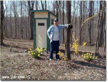 The proud owner of this great looking outhouse