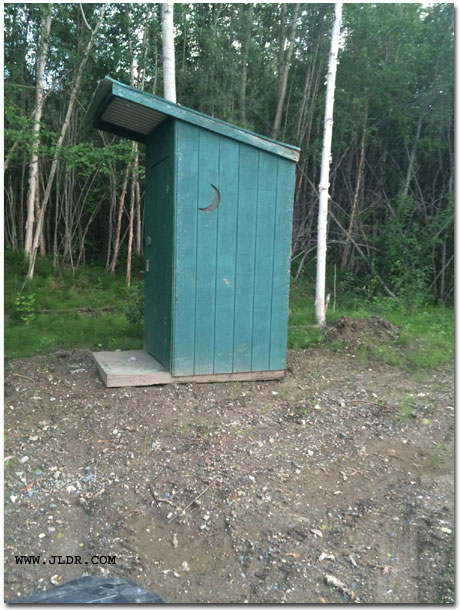Outhouse found in Alaska between Anchorage and Fairbanks