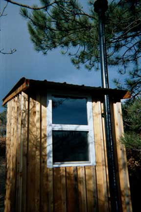 Rear View of the finished outhouse