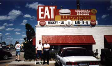 Mickey-Lu-Bar-B-Q; The best hamburgers in the world! (12 Kb)