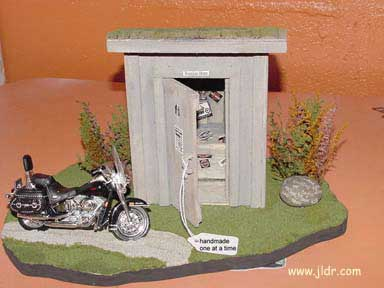 Custom Built Motorcycle Outhouse