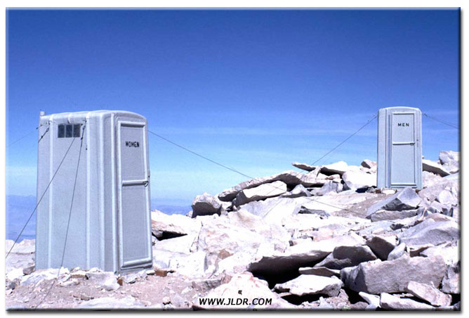 Mt. Whitney Outhouse at the Summit