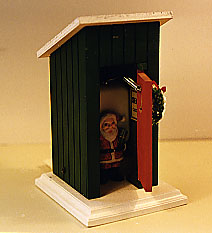 Santa's in the Outhouse!