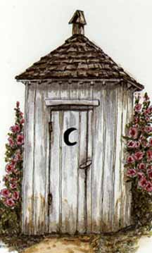 A really nice outhouse drawing