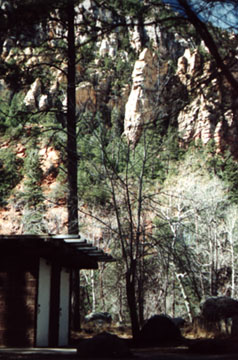 A Sedona Canyon Campground Outhouse