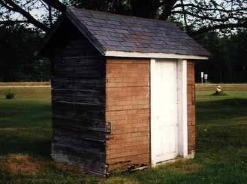 Corner View of the Outhouse
