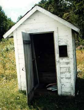 The Nahma Junction, Michigan Church Outhouse