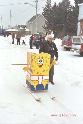 Sponge Bob waiting to race