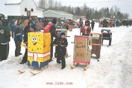 Sponge Bob at the starting line