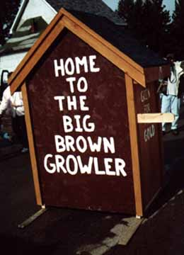 Back of the Brown Growler