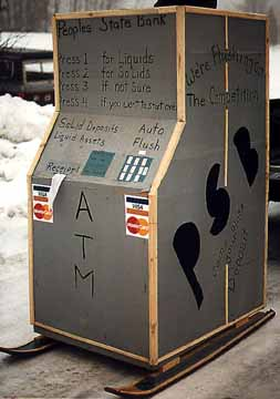 Peoples State Bank Outhouse 24-hr Banking Machine