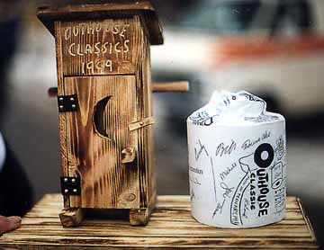 Outside view of the 1999 Outhouse Classic Trophy