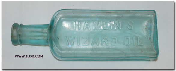 Hamlin's Wizard Oil bottle
