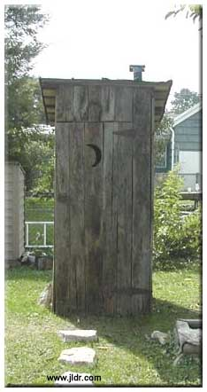 An Outhouse constructed from a collapsed barn