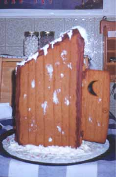 The Gingerbread Outhouse Before the Burning
