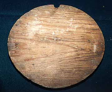 Outhouse Hole Cutout (top view) Recovered from an Outhouse Digging