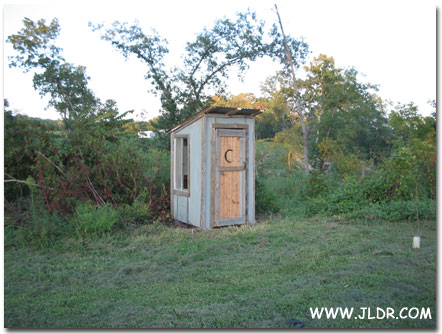 Wheeler, Arkansas Outhouse built for $25!