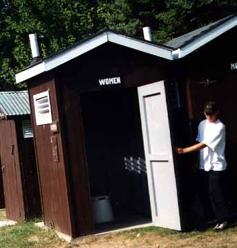 Inside the Women's Outhouse at Kleinke Park
