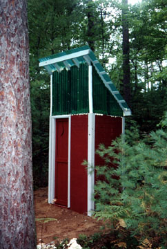 A Beautiful Pre-Fab Outhouse
