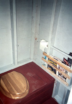 Inside of the prefabricated Outhouse
