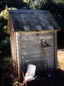 1999 Condition of the old Outhouse with Regular Roof