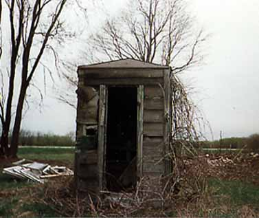 Michigan Tin-roofed Outhouse