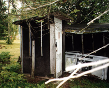 Front View of the Old Outhouse