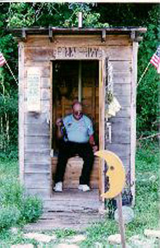 This Outhouse is located at Penn's Store in Gravel Switch, KY