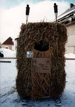 Grass Hut Outhouse
