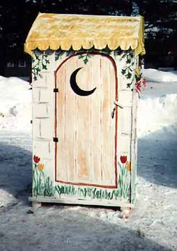 The Women's Outhouse; Door Closed