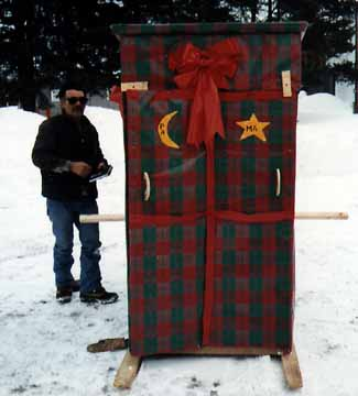 An Outhouse Wrapped up like a Gift