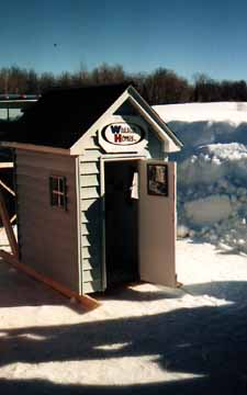 A Wausau Homes Outhouse
